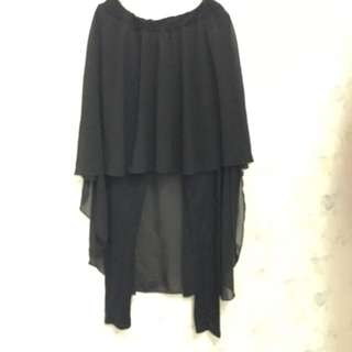95%new前短後長特色裙