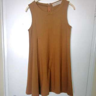 Zara Camel Shift Dress M
