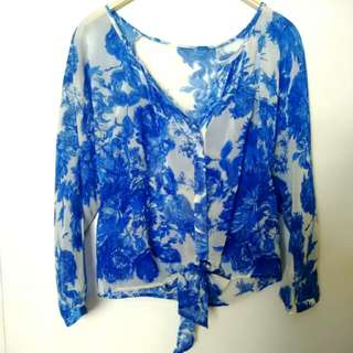 Tie Up Blouse Size M