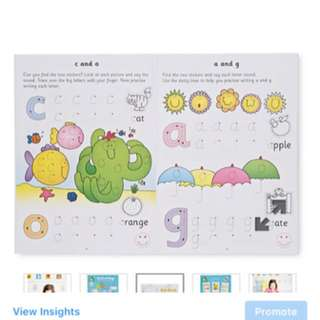 MOTHERCARE ELC: First writing sticker book