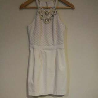 White Forever New Casual Dress