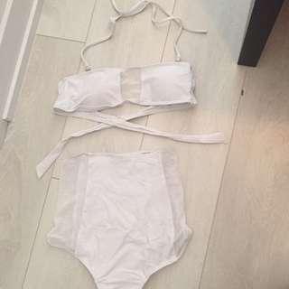 White Mesh Bikini
