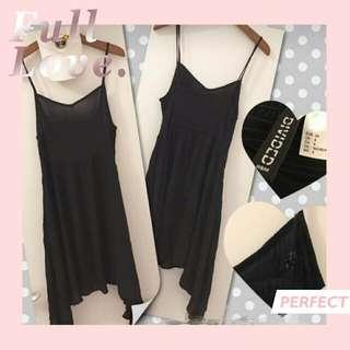 H&M吊帶黑色裙