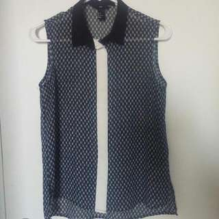 H&M Sleeveless Blouse Size S
