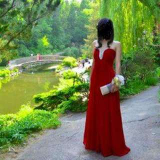 Red Prom Dress - Size 00/0 XS/S