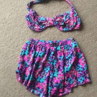 Vintage Ladies Swimwear Set