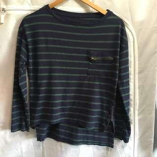 Zara striped knit top