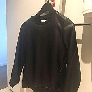 Sakuhachi Faux Leather Sweater