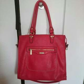 Vegan Leather Red Bag