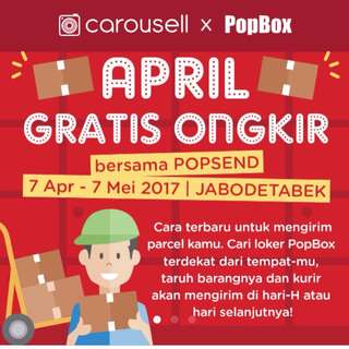 Free Ongkir With POPBOX