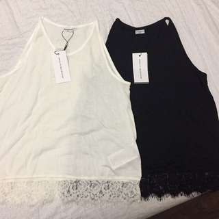 Black And White Lace Top