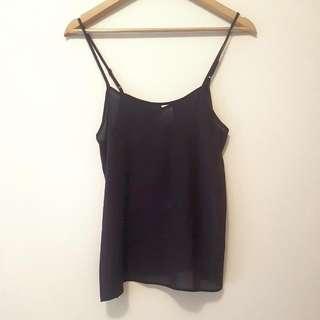 Black Polyester Cami