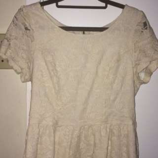 white dressy lace shirt