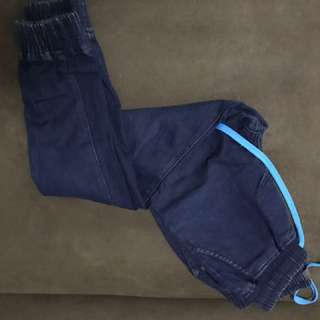 Folded and hung jogger pants