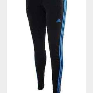 Blue striped adidas sports pants