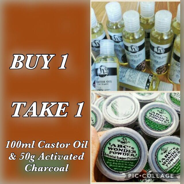 100ml Castor Oil And Activated Charcoal
