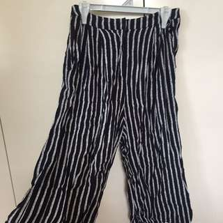 Glassons Navy And White Striped Culotte