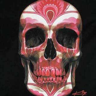 Gerrard King Pink Skull Print