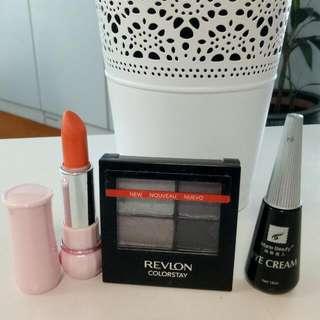 Eyeshadow Revlon Colorstay Siren Sirene 525 ± Etude Lipstick No. 01 + Lem Bulu Mata Warna Hitam Marie Beauty