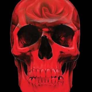 Gerrard King Rose Skull Print