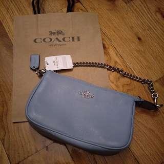 [現貨在台] Coach手提/肩背包-水藍色