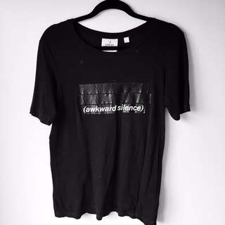Size M Slogan T-Shirt