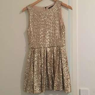 Gold Sequin Sparkle Dress Size S