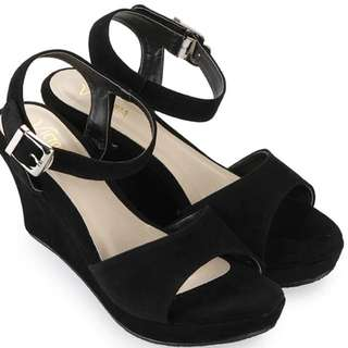 Wedges Black Shoes