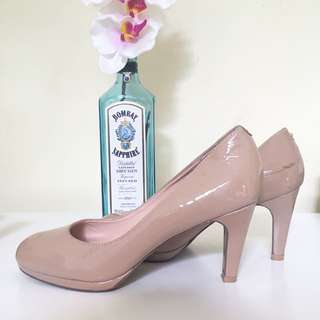 Basque Nude Heels Size 38.5 / AU 8
