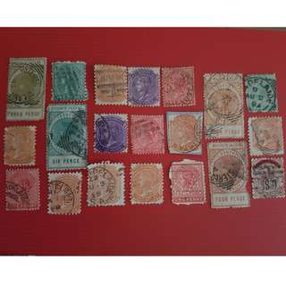 Antique - Australia - 85 stamps collection - Assorted 19th century