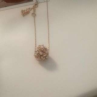 FREE* Gold Ball Bejeweled Necklace