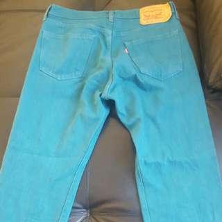Levis Jeans - 501 Turquoise Vintage