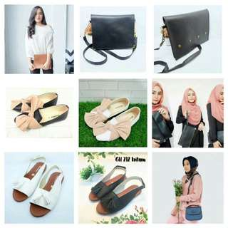 CLUTH, SLINGBAG, SHOES