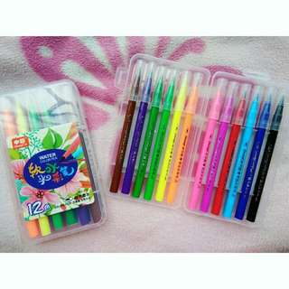 12 pcs. Brush Pens (Zhong Cai)