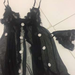 New In Packaging Black Lingerie Set - Will Fit Xs / S
