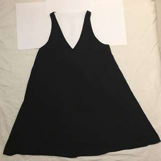 Seed Black Cut Out Swing Dress