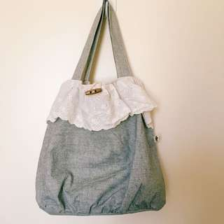 Korean Style Lace Tote Bag