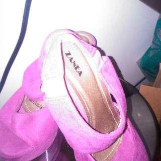 Zanea Pink Comfy Sandal