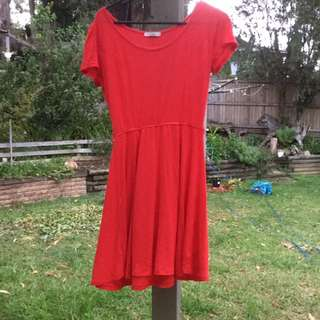 Red Skater Dress Size 10