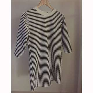Striped Knitted Boohoo Long Sleeve Dress