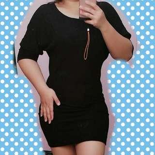 Reborn 3/4 Black Dress