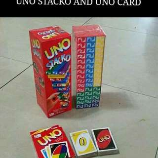 UNO STACKO AND UNO CARDS