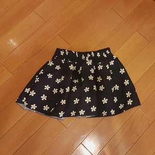 小花半鬆緊短裙