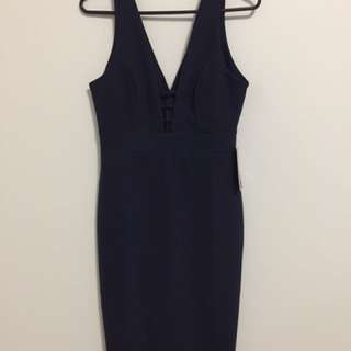 Navy blue Midi Dress