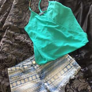 Size 8 / XS outfit Top And Shorts