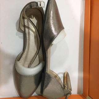 金屬繞踝平底鞋 #五百元好女鞋