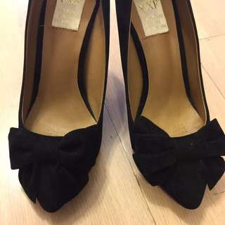 Black Ribbon High Heel
