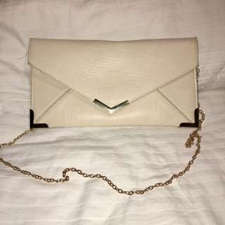 Off White Collette Clutch