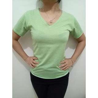 Green Stripe Blouse