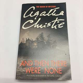Paperback novel: And Then There Were None by Agatha Christie